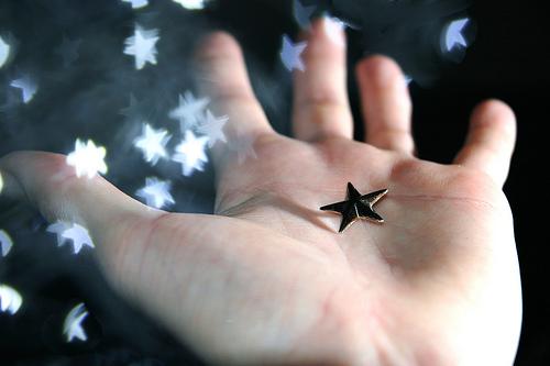 手の平に星